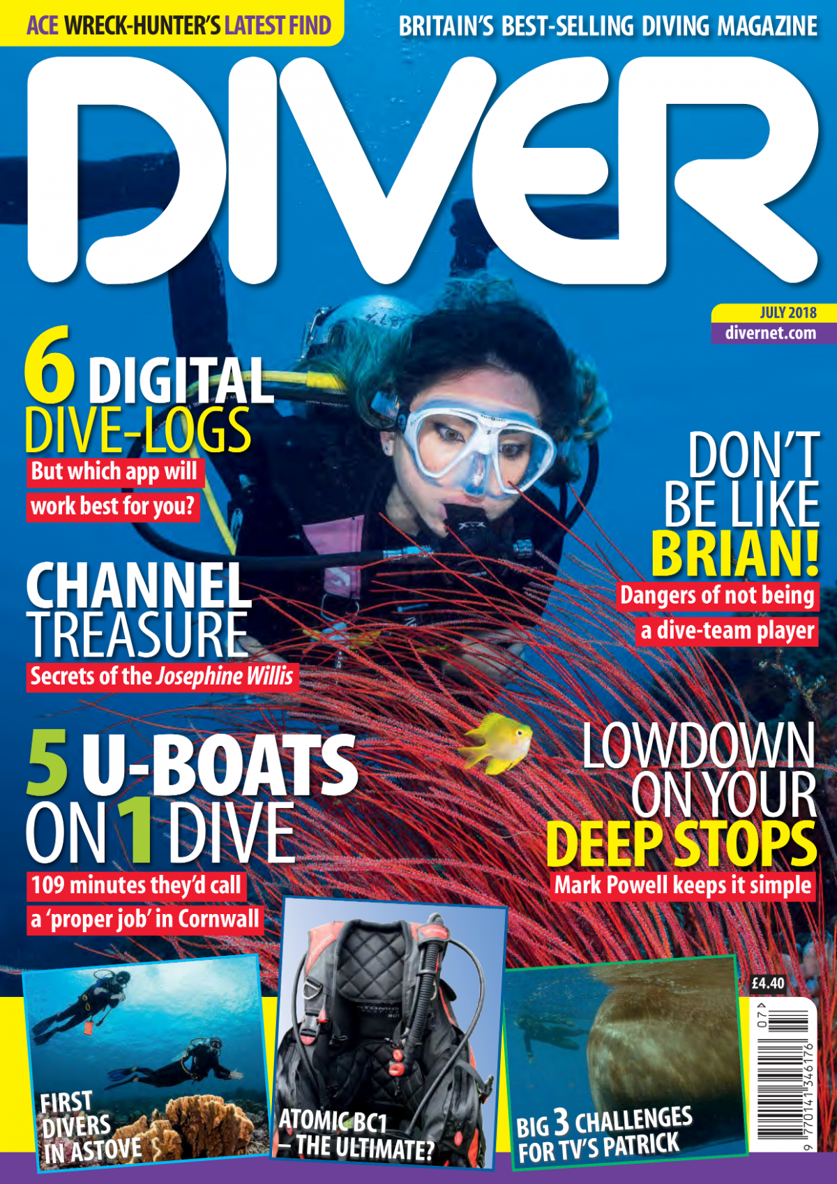 DIVER Cover July